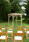 Picture of an Arbour with AkerWoods Posts from Customer: Jim Brubaker