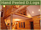 Hand Peeled D-Logs Log Home House Logs
